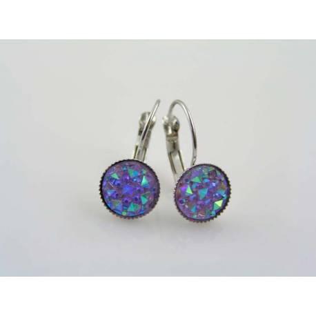 Sparkling Purple Druzy Earrings
