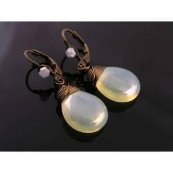 Shimmering Pale Lemon Drop Earrings