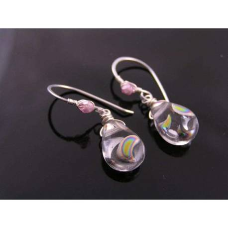 Mirror Rainbow Drop Earrings