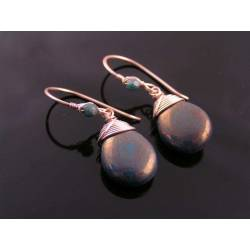 Wire Wrapped Rose Gold Earrings