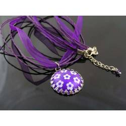 Purple Flower Retro Necklace