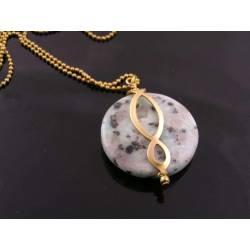 Large Sesame Jasper Eternity Necklace