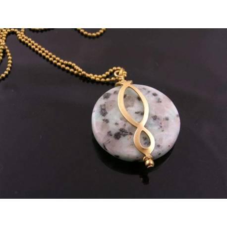 Huge Sesame Jasper Eternity Necklace