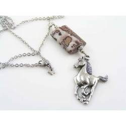 Horse Necklace, with Crazy Horse Jasper