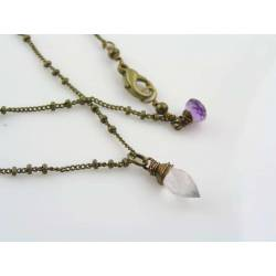 Cute Rose Quartz Necklace