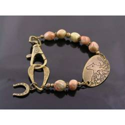 Horse Bracelet with Jasper Beads