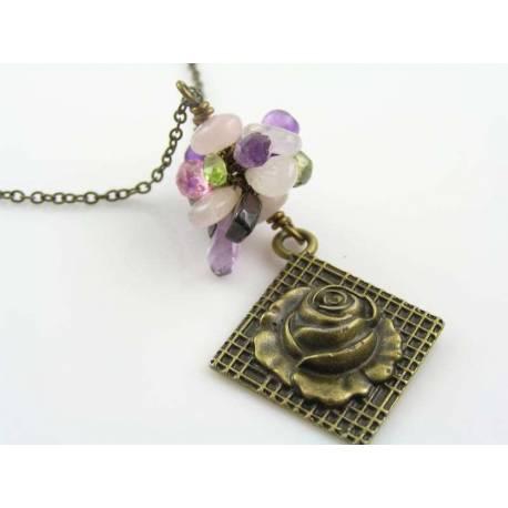Rambling Rose Gemstone Necklace