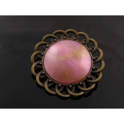Shimmering Pink Brooch