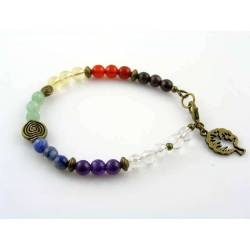 Chakra Bracelet, Gemstone Bracelet in Chakra Colours