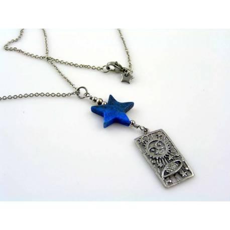 Two Strand Necklace with Dragon Pendant, Carnelian, Citrine, Garnet and Vesuvianite