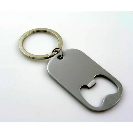 Stainless Steel Keyring with Bottle Opener