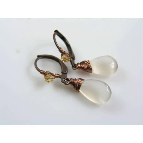 Grey Moonstone Earrings