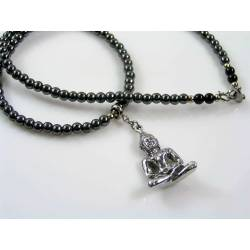 Hematite Buddha Necklace