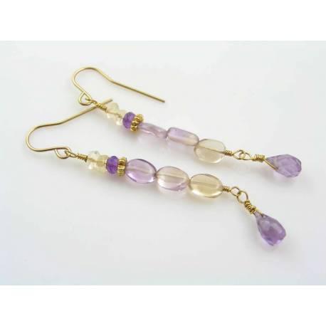 Ametrine Gold Earrings