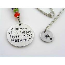 """Mourning Necklace """"A piece of my heart lives in heaven"""""""