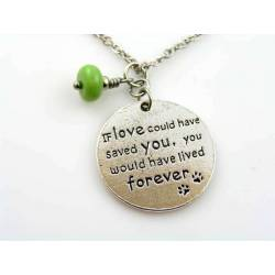 Pet Loss Mourning Necklace with Birthstone