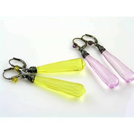 Yellow Earrings are available upon request