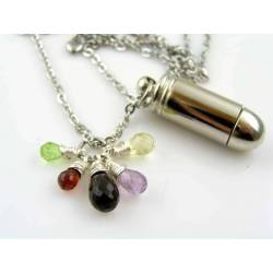 Urn Necklace with Gemstones