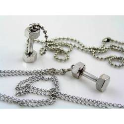 Dumbbell Necklace, Weight Lifter