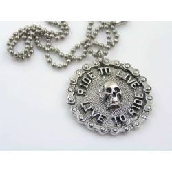 Ride to Live, Live to Ride - Biker Necklace