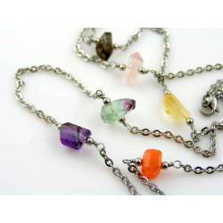 Gemstones by the Yard, Wire Wrapped Necklace