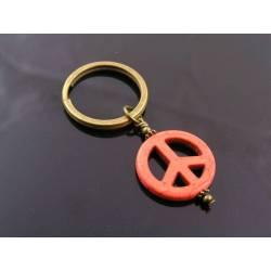 Peace Sign Key Chain, Gift Idea