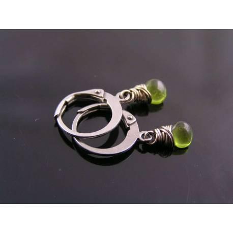 Vesuvianite Hoop Earrings