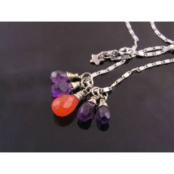 Carnelian and Amethyst Necklace