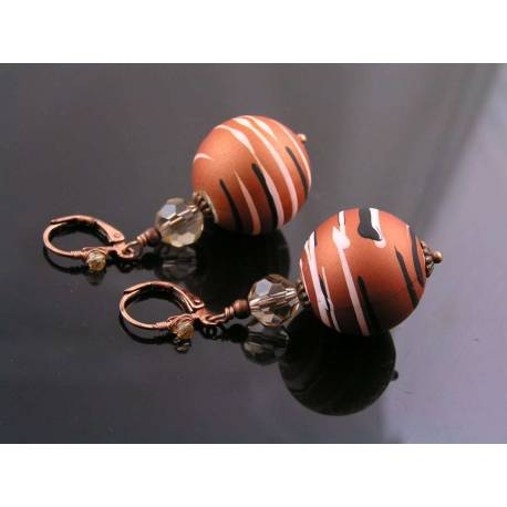 Copper Sphere Earrings