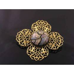 Golden Filigree Brooch