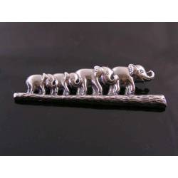 Herd of Elephants Brooch
