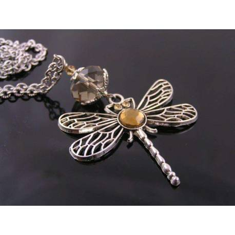 Crystal Set Dragonfly Necklace