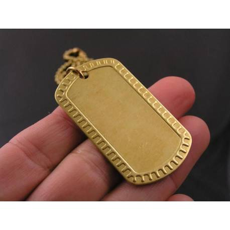 Personalised Dog Tag in Solid Brass