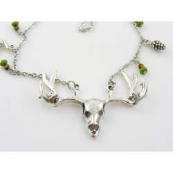 Antler Necklace, Silver