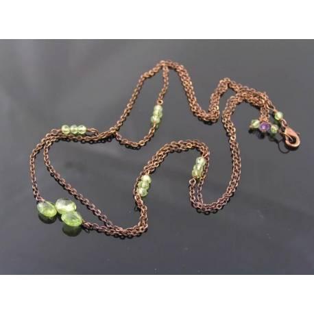 Delicate 2 Strand Peridot Necklace