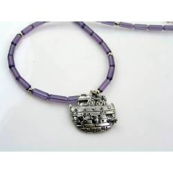 Noah's Ark Purple Bead Necklace