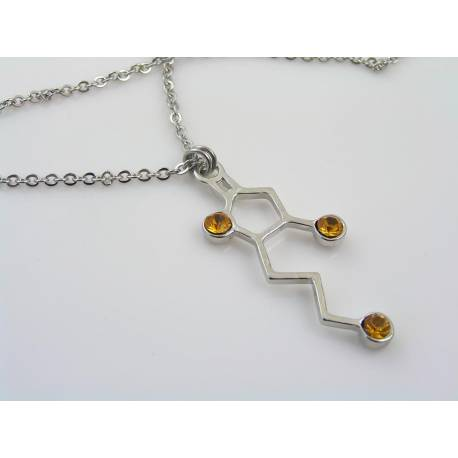 Whiskey Molecule Necklace