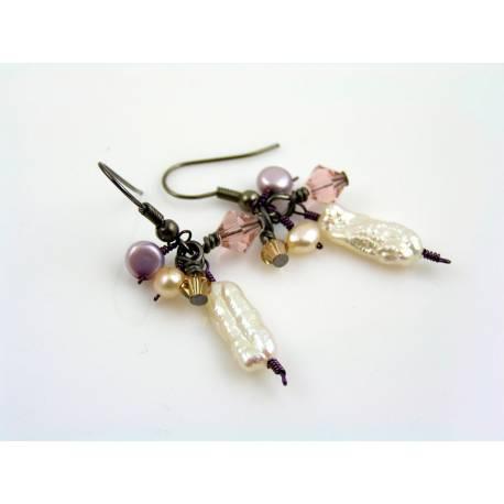 Romantic Pearl and Crystal Earrings