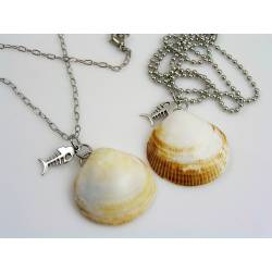 Natural Shell Necklace, Beach Jewelry