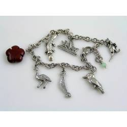 Charm Bracelet with Australian Charms and Gemstones