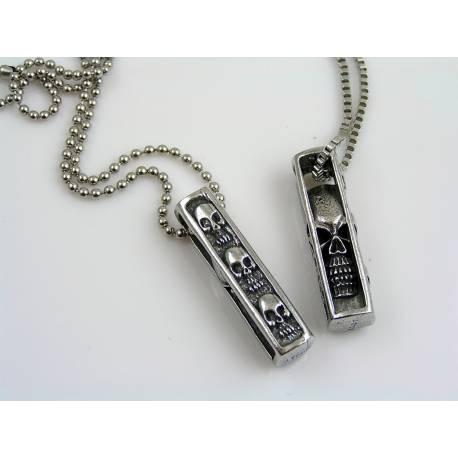 Skull Necklace, Biker Jewelry