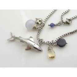 Save the Sharks - Charm Necklace with Shark Pendant