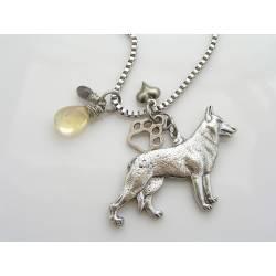 German Shepherd Charm Necklace