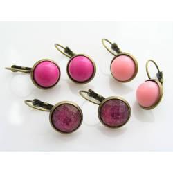 Pink Cabochon Earrings, Choose 1 Pair