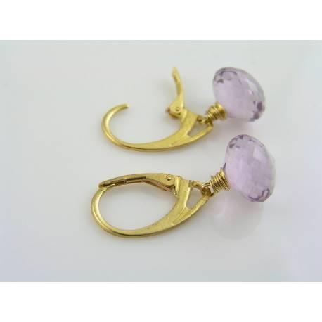 Cape Amethyst Hoop Earrings