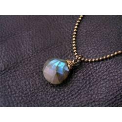 Labradorite Single Stone Necklace