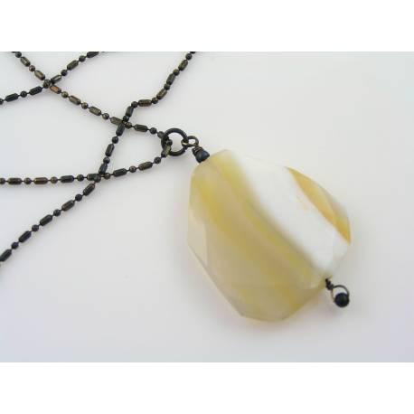Golden Glass Opal Earrings