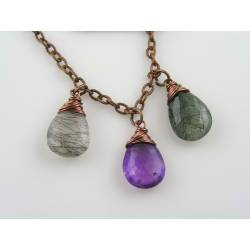 Rutilated Quartz/Amethyst Necklace
