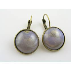 Vintage German Cabochon Sleeper Earrings