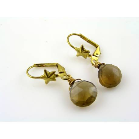 Whiskey Quartz Earrings
